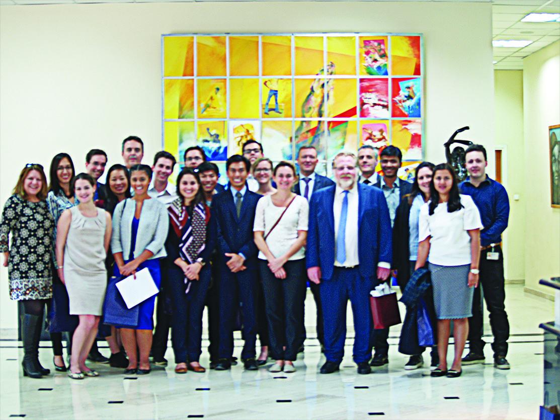 Επίσκεψη μεταπτυχιακών φοιτητών του πανεπιστημίου STANFORD  στη βιομηχανία φαρμάκων DEMO ΑΒΕΕ