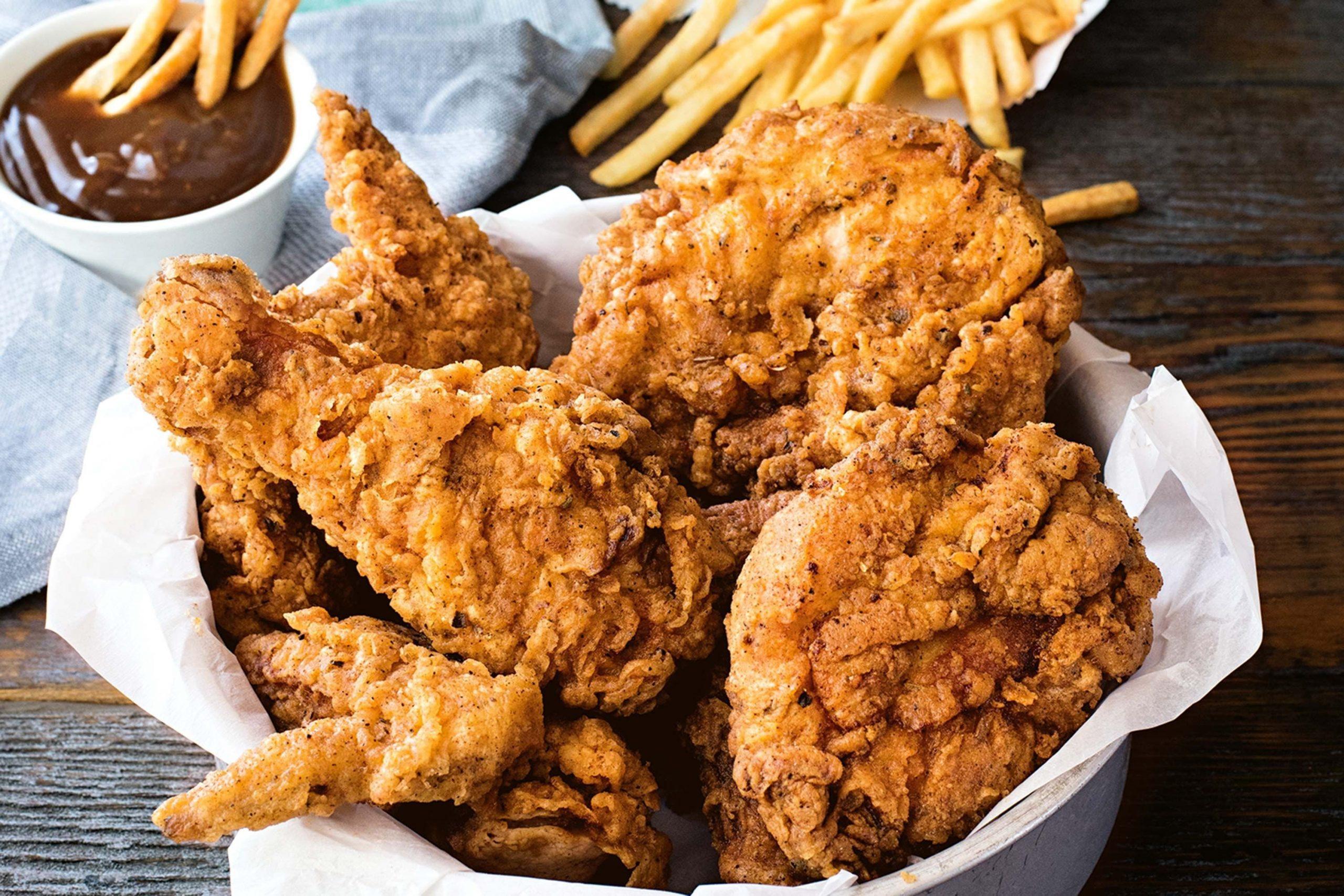 τηγανητά κοτόπουλα