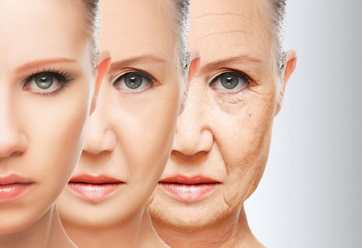 γυναίκα σε διαδικασία που δείχνει την γήρανση